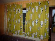 Kindervorhänge Traumschaf in schwarz weiß