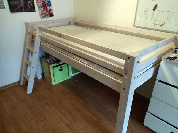 Hochbett Massivholz Kaufen : Hochbett massivholz 215x101x114 cm in vaterstetten kinder