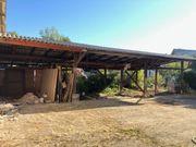 Schuppen Holzlager Holzschuppen Außenlager 15m
