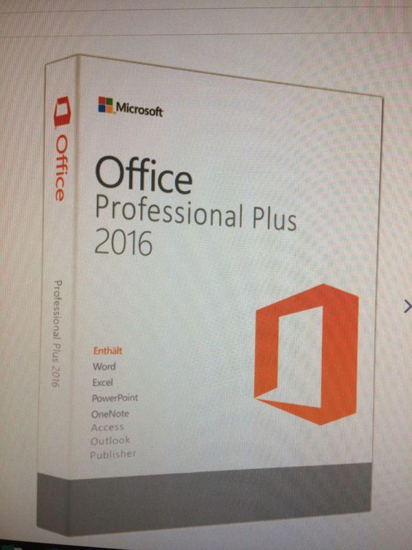 Microsoft Professional Plus 2016 für 2 PC - Hamburg - Microsoft Professional Plus 2016Deutsch/Englisch/Französisch/Spanisch/ItalienischSie werden zur Registrierung direkt auf die Microsoft HP geleitet.Enthaltene Anwendungen in Office 2016 Professional Plus:Word 2016Excel 2016Powerpoint 2016Outlook - Hamburg