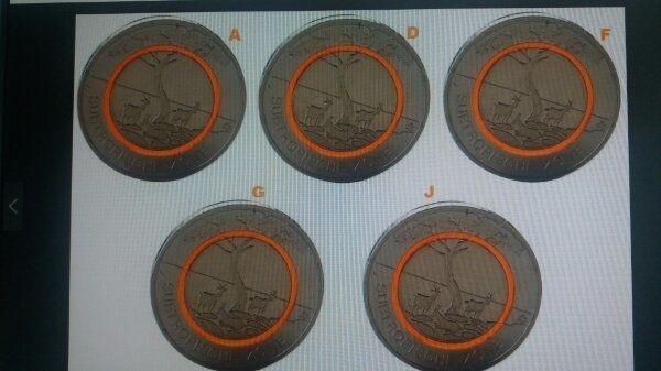 5 Euro Münze Subtropische Zone 2018 Komplettsatz A D F G J In