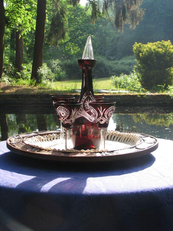Jugendstil Wein Tisch Set Gläser