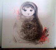 Acrylbild Matrjoschka 121x121cm