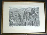 Strieffler Heinrich Rebenscheiden Serigraphie B068