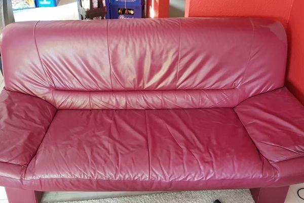 Couch, Leder, echtleder, Wohnzimmercouch, Schnäppchen in ...