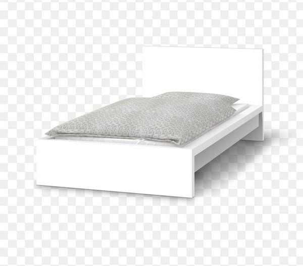 Ikea Malm Bett 90x200 Weiß Mit Lattenrost Und Matratze In Bad