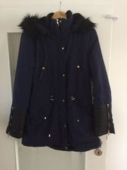 Damen Winter Parka Navy blau