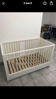 Babybett Wippfunktion Echtholz