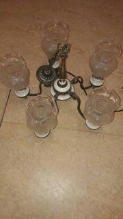 Wunderschöne Zinn Karamik Lampe 5