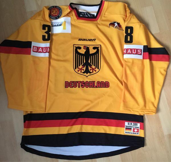 DEB Deutschland Eishockey Trikot Gameworn Eisbären - Markgröningen - Verkaufe Gameworn Trikot Buchwieser mit Echtheitszertifikat. Getragen am 11.11.2011 beim Spiel gegen die Schweiz - Markgröningen
