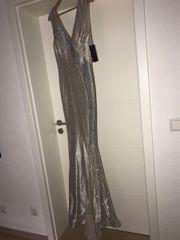 Abendkleid creme strass
