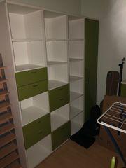 Wohnzimmermöbel Lack apfelgrün 9-teilig