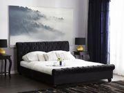 Polsterbett schwarz Lattenrost 180 x