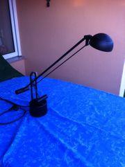 Schreibtischlampe schwarz, schwenkbar -