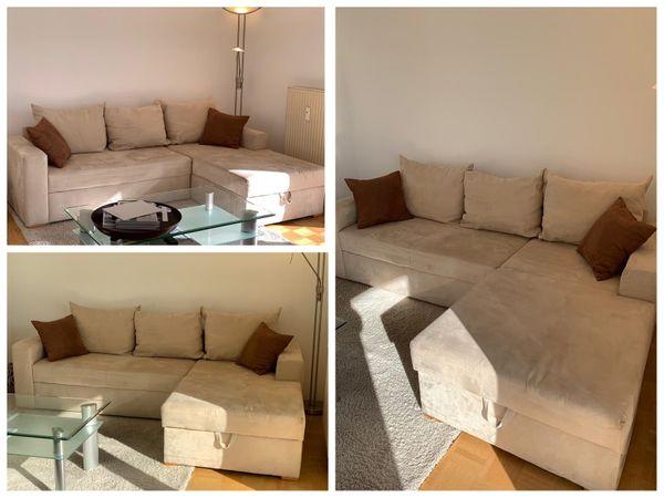 Eck Couch Eck Sofa Couch Mit Schlaffunktion Und Bettkasten In